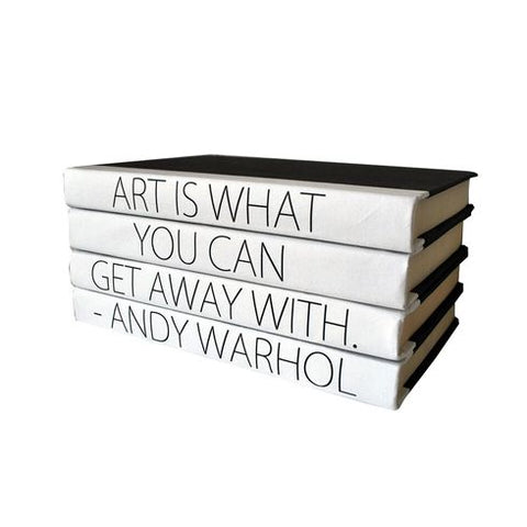 Quotation Stacking Books- Andy Warhol - RSVP Style