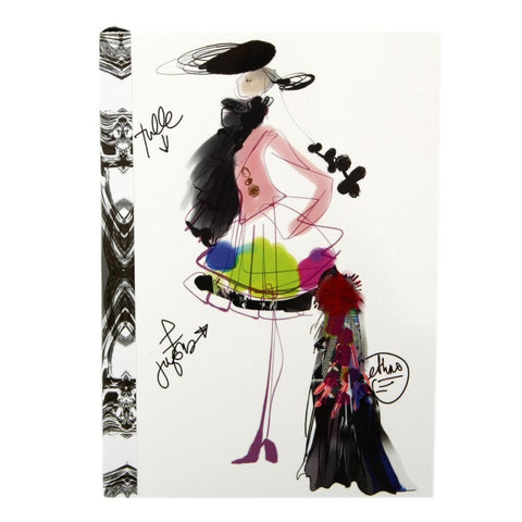 Christian Lacroix Fashion Sketch Croquis A6 Notebook, Christian Lacroix - RSVP Style