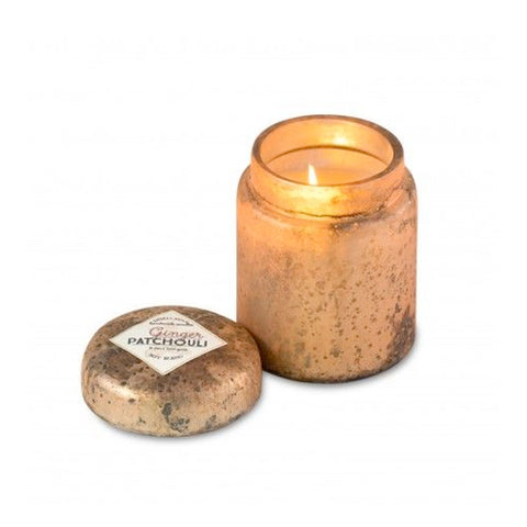 Mountain Fire Glass Candle Pot—Ginger Patchouli - RSVP Style