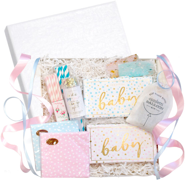 "RSVP Style ""Gender Reveal"" Party Gift Box"