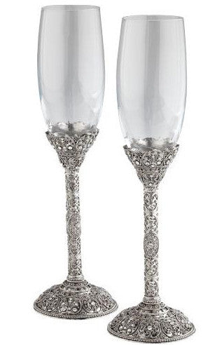 Chantilly Champagne Flute Pair