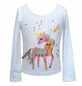 Unicorn Long Sleeve Embellished Top