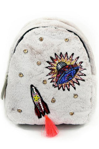 Space Faux Fur Backpack