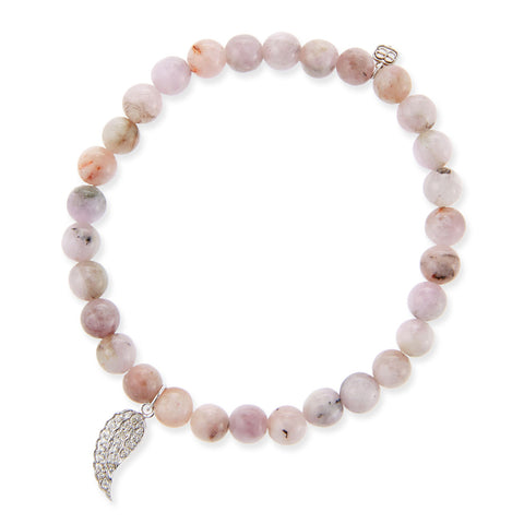 WING DIAMOND & KUNZITE BRACELET