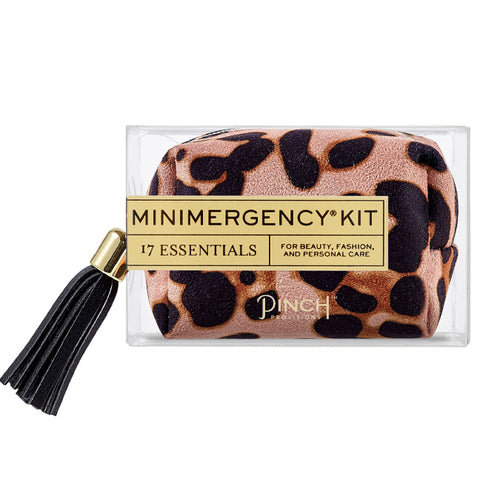 Blush Leopard Minimergency Kit