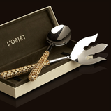 L'Objet  |  Hollow Braid Gold Serving Set