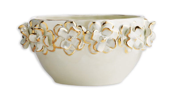 Country Bowl With Gold Floral