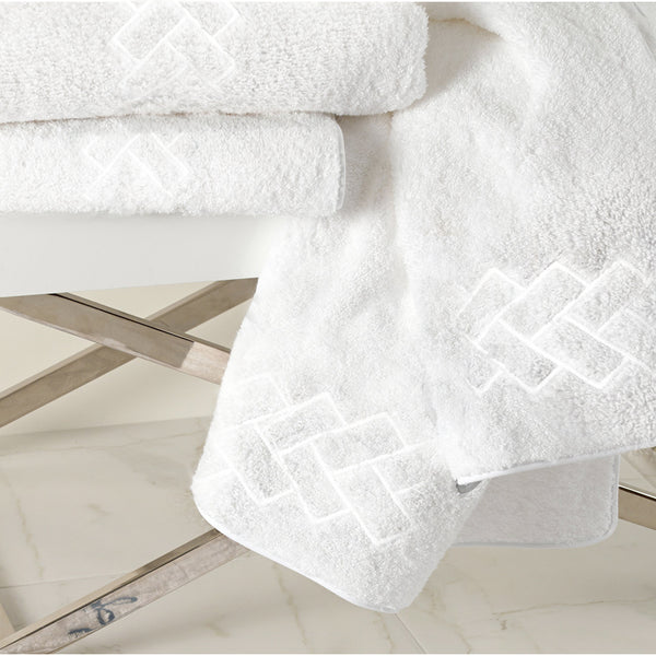 Milagro Custom Embroidered Bath Towel—White - RSVP Style