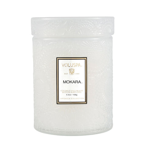 Mokara  ·  Tall Embossed Jar Candle