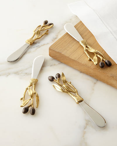 Olive Branch Gold Spreader 4-Piece Set