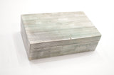 Grey & White Bone Pencil Box