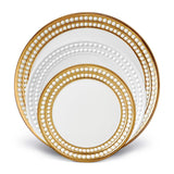 Perlee 3 Piece Gold & White Place Setting