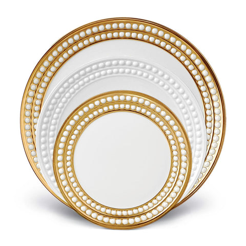 Perlee 3 Piece Gold & White Place Setting - RSVP Style