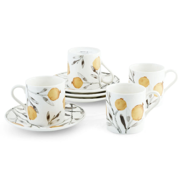 Pomegranate Demitasse Set