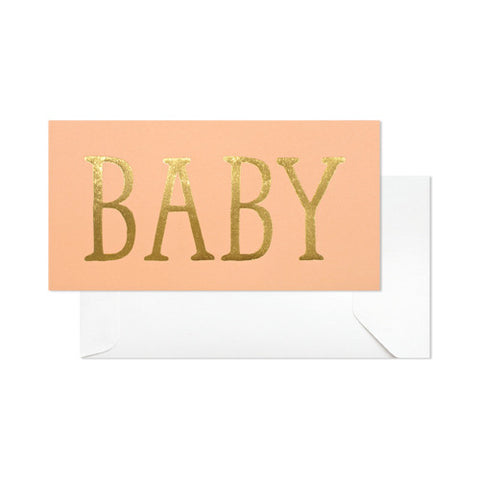 Baby Coral Card - RSVP Style