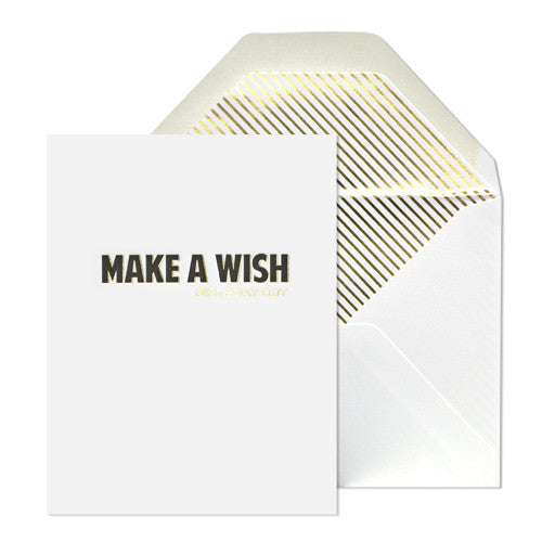 Birthday Wish Card, Sugar Paper - RSVP Style
