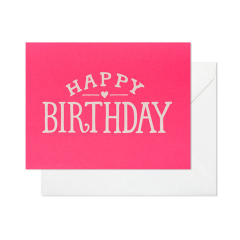Bright Birthday Card, Sugar Paper - RSVP Style