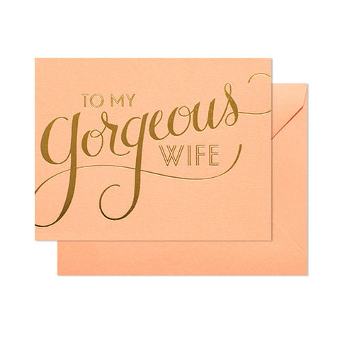 Gorgeous Wife Card, Sugar Paper - RSVP Style