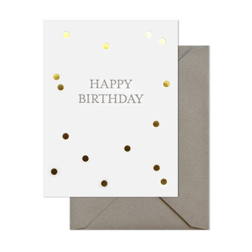 Happy Birthday Confetti Card