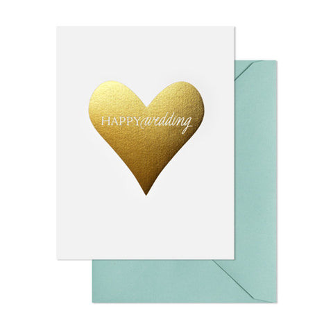 Happy Wedding Heart Card, Sugar Paper - RSVP Style