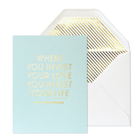 Invest Your Love Card, Sugar Paper - RSVP Style