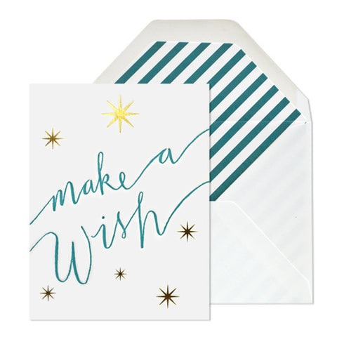 Make A Wish Stars Card, Sugar Paper - RSVP Style