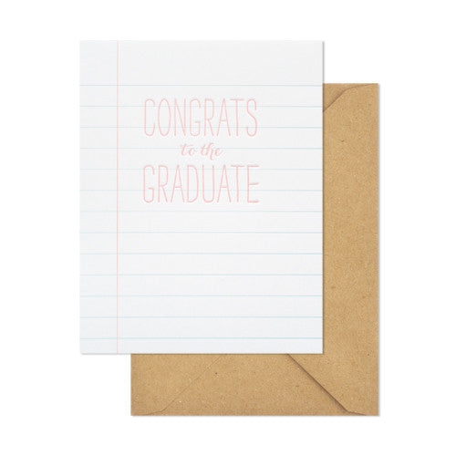 Notebook Graduate Card, Sugar Paper - RSVP Style