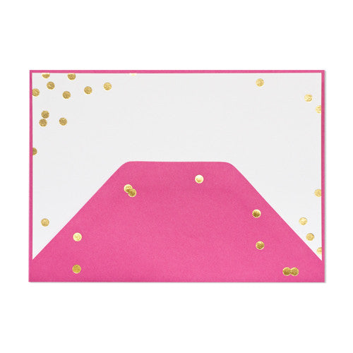 Raspberry Confetti Note Set