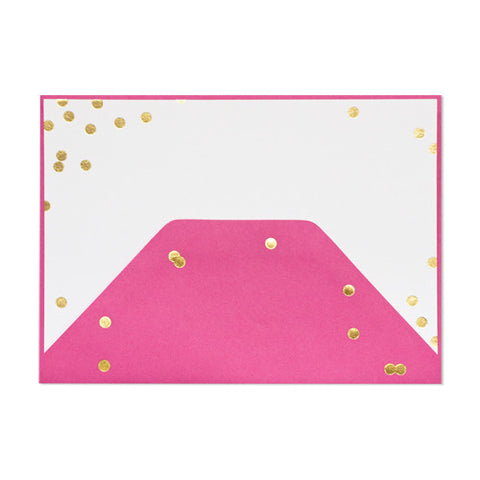 Raspberry Confetti Note Set, Sugar Paper - RSVP Style