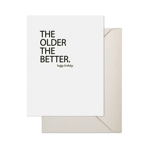 The Older The Better Card, Sugar Paper - RSVP Style