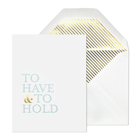 To Have & To Hold Card, Sugar Paper - RSVP Style