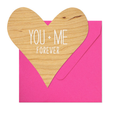 You + Me Card, Sugar Paper - RSVP Style