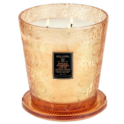 Spiced Pumpkin Latte  ·  3 Wick Candle