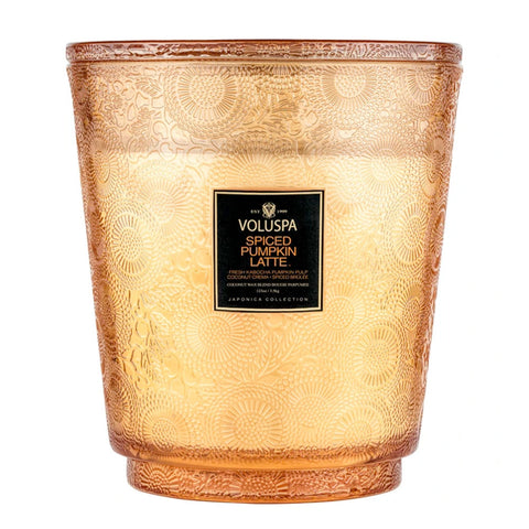 Spiced Pumpkin Latte  ·  Hearth Candle with Lid