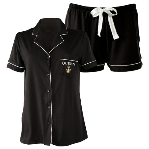 Queen Bee Luxury Pajama Shorts Set