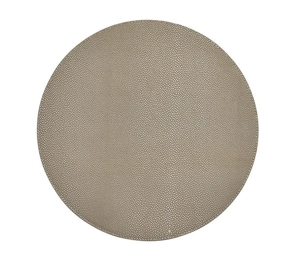 Shagreen Round Placemat — Gray Set of 4