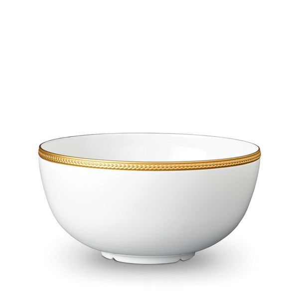 Soie Tressée Gold Serving Bowl