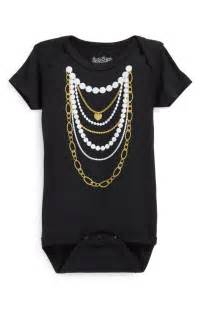 Gold and Pearl Necklace Onesie - RSVP Style