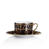 Tiara Black and Gold Tea Cup 6.8oz - RSVP Style