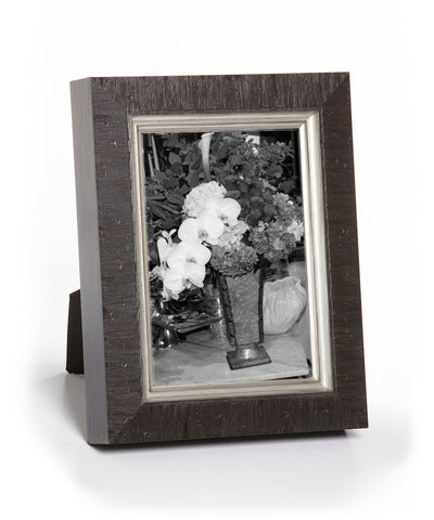 Versailles | Dark Brown Etched Silver | 8x10