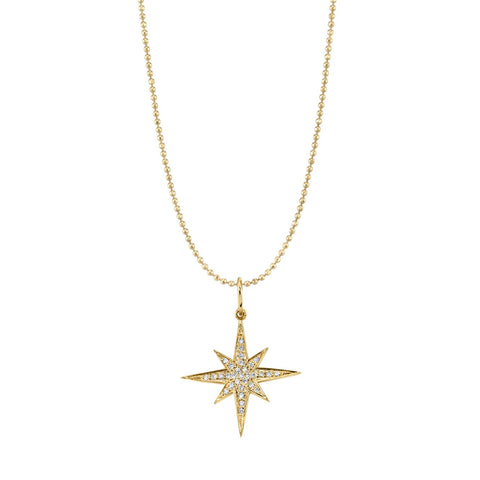 GOLD & DIAMOND STARBURST NECKLACE