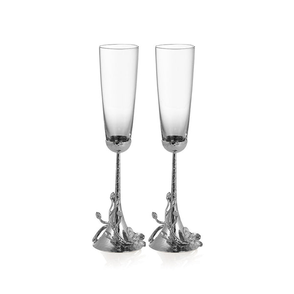 White Orchid Toasting Flute | Set of 2