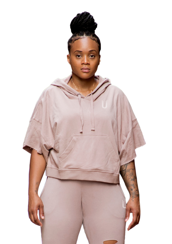 Terry + crop Top Tunic Dusk/Pink