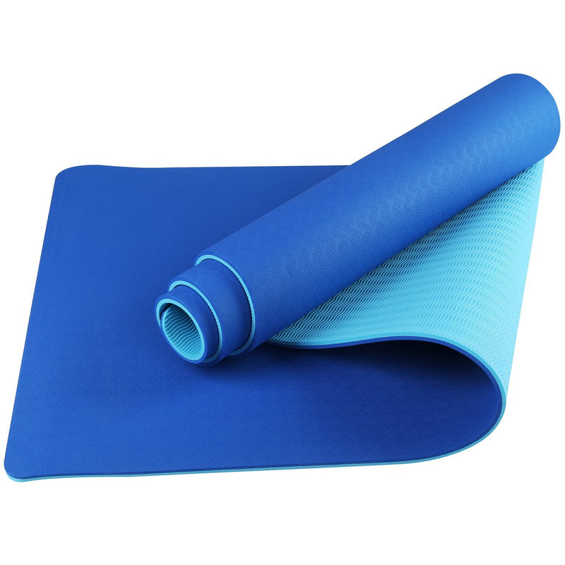 TPE Blue on Blue ECO Friendly Yoga Mats
