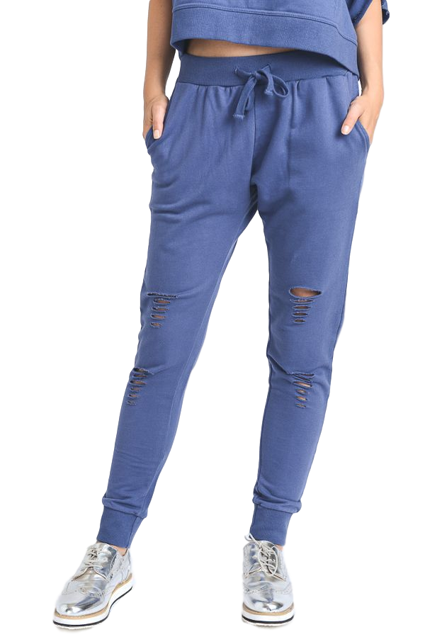 TERRY + Sweats Cut-Outs Deep Blue