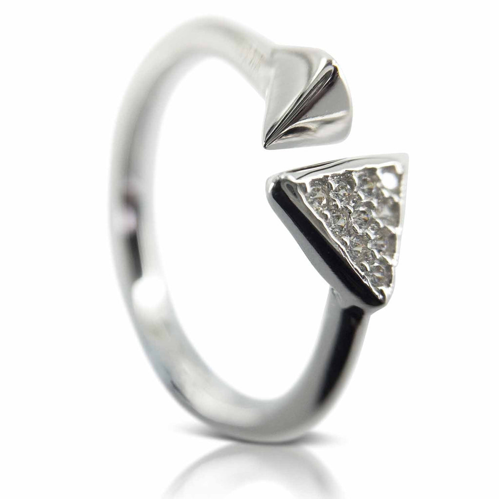 Beautiful Rings for Women - Silver Triangle Ring (101) from Evulfi. Snap up yours today!