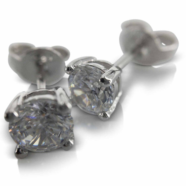 Earrings nz - Silver Cubic Zirconia Earrings (201) from Evulfi. Spoil yourself now!