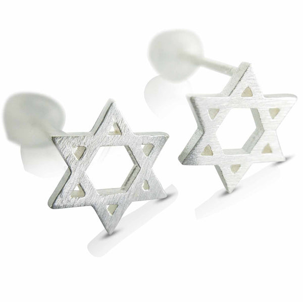 Sterling Silver Earrings nz - Silver Star Earrings (202) from Evulfi and completely striking!