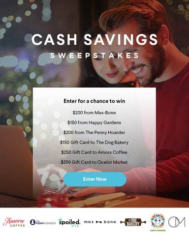 cash savings giveaway