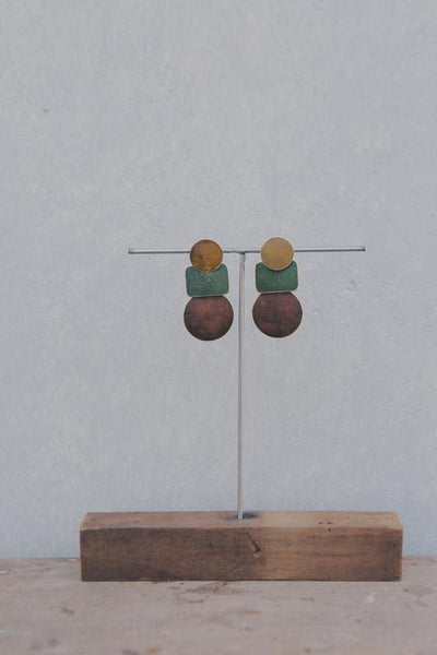 Annahmol Earrings Niko Patina Earrings